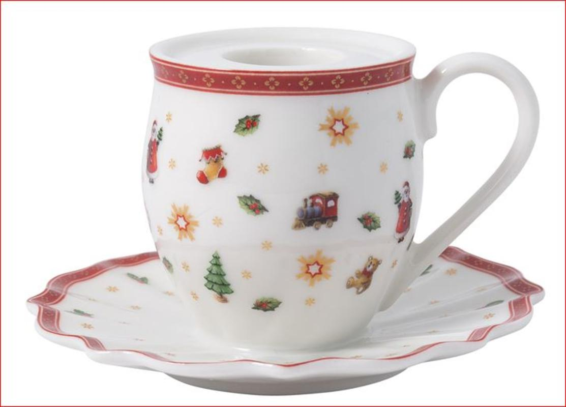 Svijećnjak šalica Toy's delight decoration, Villeroy&Boch Božić, premium porculan, 10x6cm
