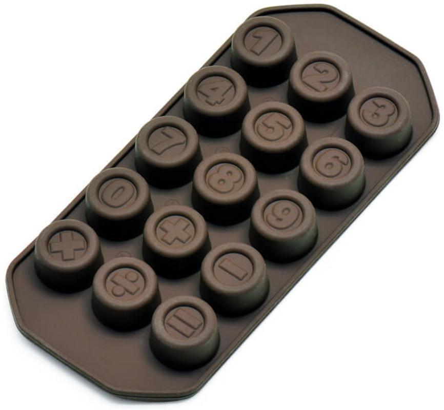 "Kalup za praline ""brojevi"" Kaiser , silikon, za 150g čokolade"