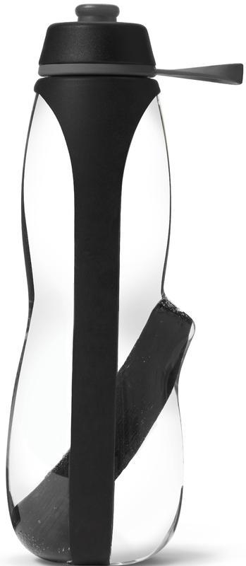 Boca za vodu s ugljenom black+blum Eau Good Duo, plastika 700ml, crna