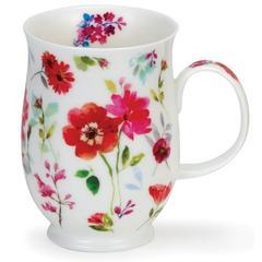 Šalica Dunoon Suffolk, floral harmony red, porculan 0,31l
