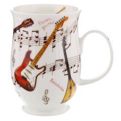 Šalica Dunoon Suffolk, instrumenti gitara, porculan 0,31l