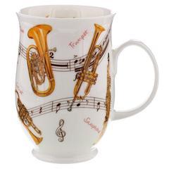 Šalica Dunoon Suffolk, instrumenti truba, porculan 0,31l