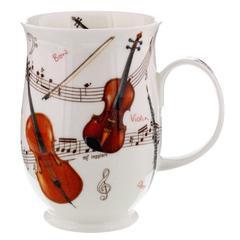 Šalica Dunoon Suffolk, instrumenti violina, porculan 0,31l
