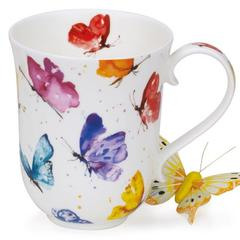 Šalica Dunoon Braemar, leptiri, porculan 0,33l