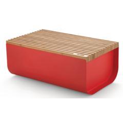 Kutija za kruh Mattina Alessi, čelična epoksi premaz, crvena 34x21cm
