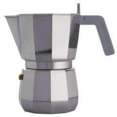 Kuhalo za espresso Moka, Alessi, aluminij, za 6 šalica