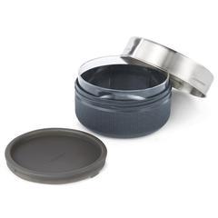 Posuda za užinu s poklopcem black+blum, staklena 750ml,siva
