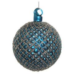 Kuglice Božić, plava, 8cm, set od 6 kuglica