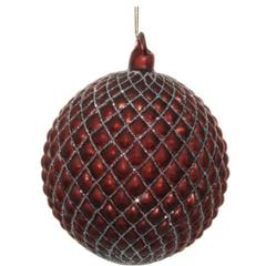 Kuglice Božić, bordo, 10cm, set od 4 kuglice