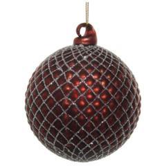 Kuglice Božić, bordo, 8cm, set od 6 kuglica