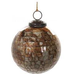 Kuglice Božić, antique smeđa, 10cm, set od 6 kuglica