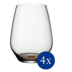 Čaše za vodu Villeroy&Boch 4/1 Colorful Life, kristalno staklo, bež, 480ml