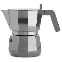 Kuhalo za espresso Moka, Alessi, aluminij, za 3 šalice