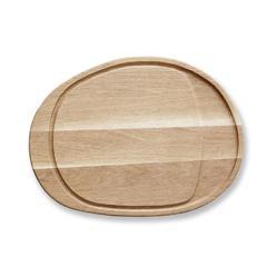 Daska za rezanje ovalna F&H, drvo hrasta, 45x33,5x1,9cm