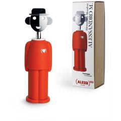 Otvarač za boce Alessi Alessandro, termoplastika/krom 21,7 cm, crvena