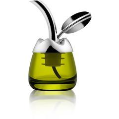 Bočica za degustaciju ulja Alessi Fior D'Olio, staklo/ inox/ termoplastika 5x6x8,5cm