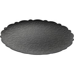 Pladanj okrugli Alessi Dressed, epoksi premaz 35cm, crni
