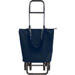 Kolica za kupovinu Rolser Mini Bag sklopiva (4 kotača), siva