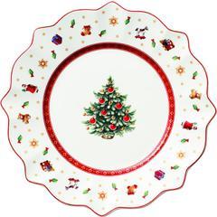 Desertni tanjur Božić, Villeroy & Boch Toys Delight bijeli 24cm