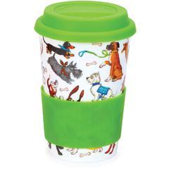 Šalica Dunoon Travel mug, Dogs galore 0,44l