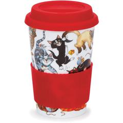 Šalica Dunoon Travel mug, Cats galore 0,44l