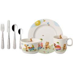 Baby set 7-djelni Villeroy&Boch Hungry as a Bear, tanjur, šalica, zdjelica, 4-djelni pribor za jelo