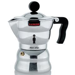 Kuhalo za espresso Alessi Moka 3 šalice, lijevani aluminij 16,40x9,60cm