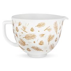 Zdjela keramička KitchenAid Pine and Berries, 4.7l bijelo-zlatna