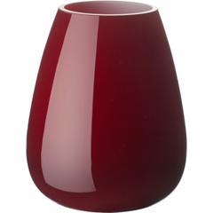 Vaza Villeroy & Boch Drop Mini, staklo 12cm, crvena