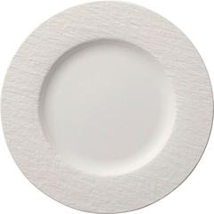 Plitki tanjur Villeroy & Boch Manufacture Rock Blanc, 27cm bijeli