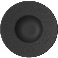 Tanjur za tjesteninu Villeroy & Boch Manufacture Rock, 28x28x5cm crni