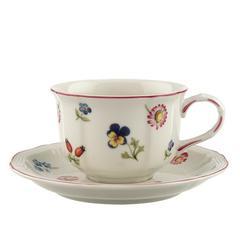 Šalica za čaj s tanjurićem Villeroy & Boch Petite Fleur, 0,20l i 15cm