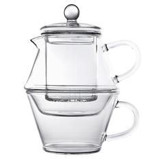 Čajnik od vatrostalnog stakla Bredemeijer, 0,4l
