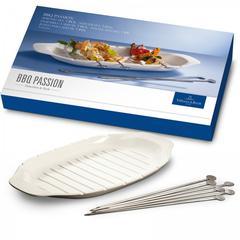 Pladanj za ražnjiće + štapići Villeroy & Boch BBQ Passion, 52x22cm