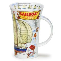 Šalica Dunoon Glencoe, jedrenjak/sailboat, porculan 0,5l