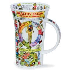 Šalica Dunoon Glencoe, zdrava hrana/ Healthy Eating, porculan 0,5l