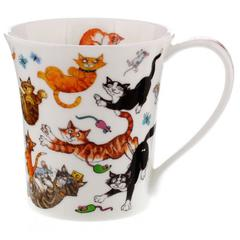 Šalica Dunoon Jura, mace/ Cats Galore, porculan 0,21l